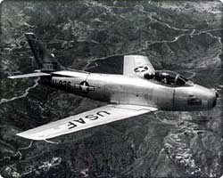 an F-86 over Korea