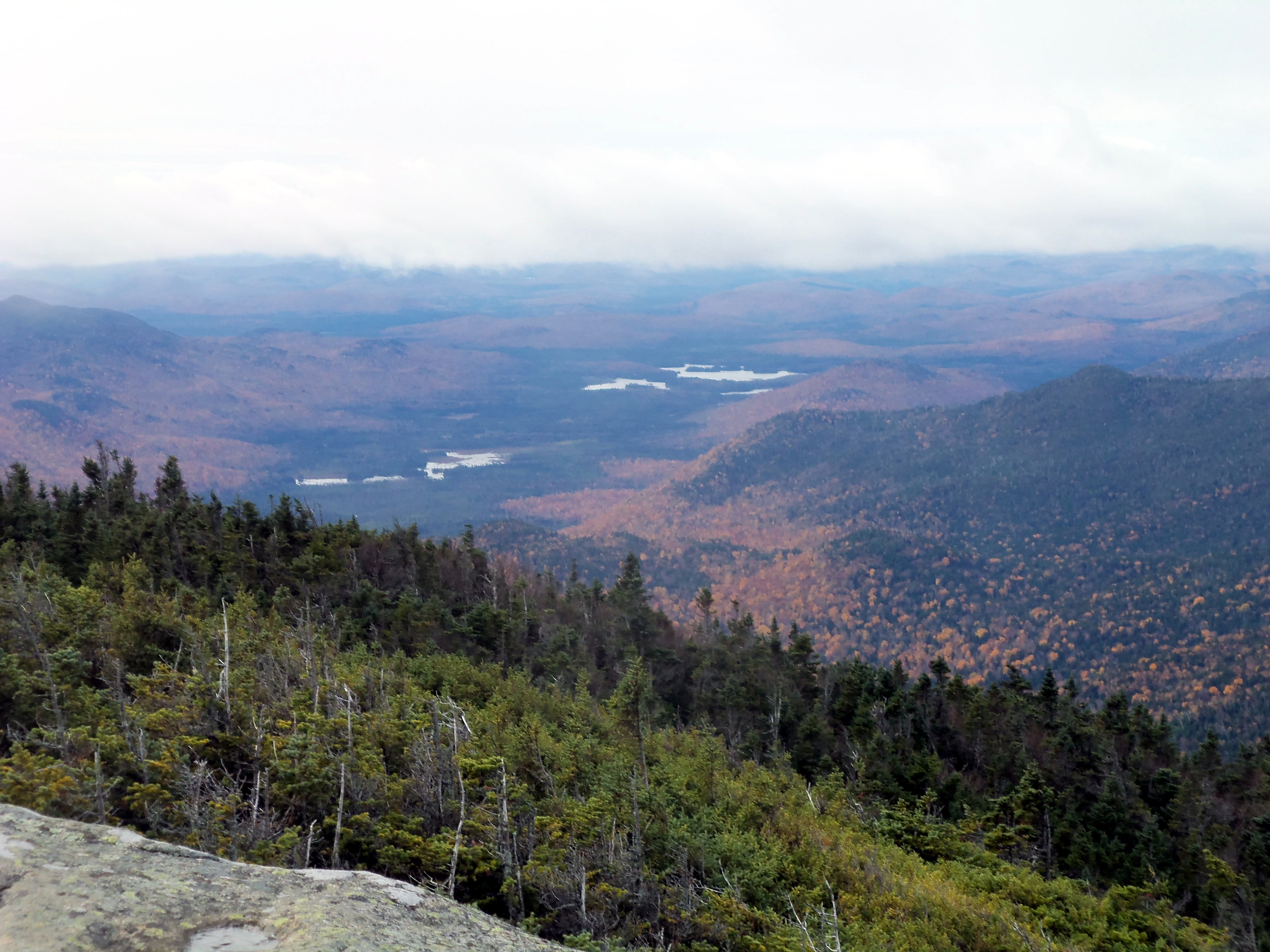 Boreas Ponds from Gothics, in the High Peaks