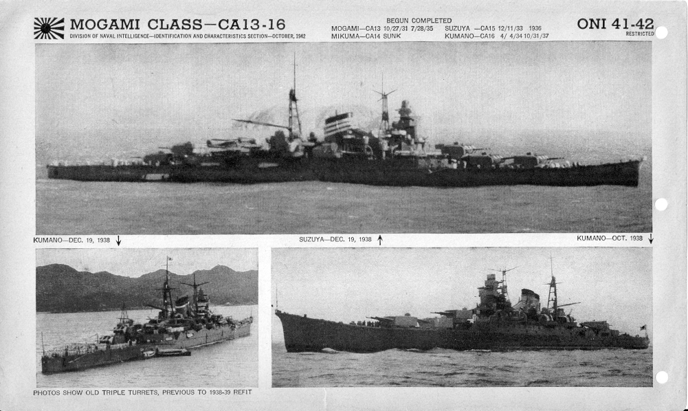 IJN cruiser Mogami photos