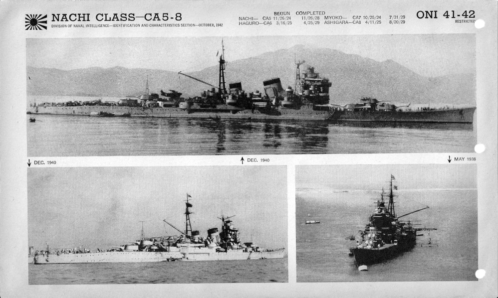 Japanese cruiser Nachi photos