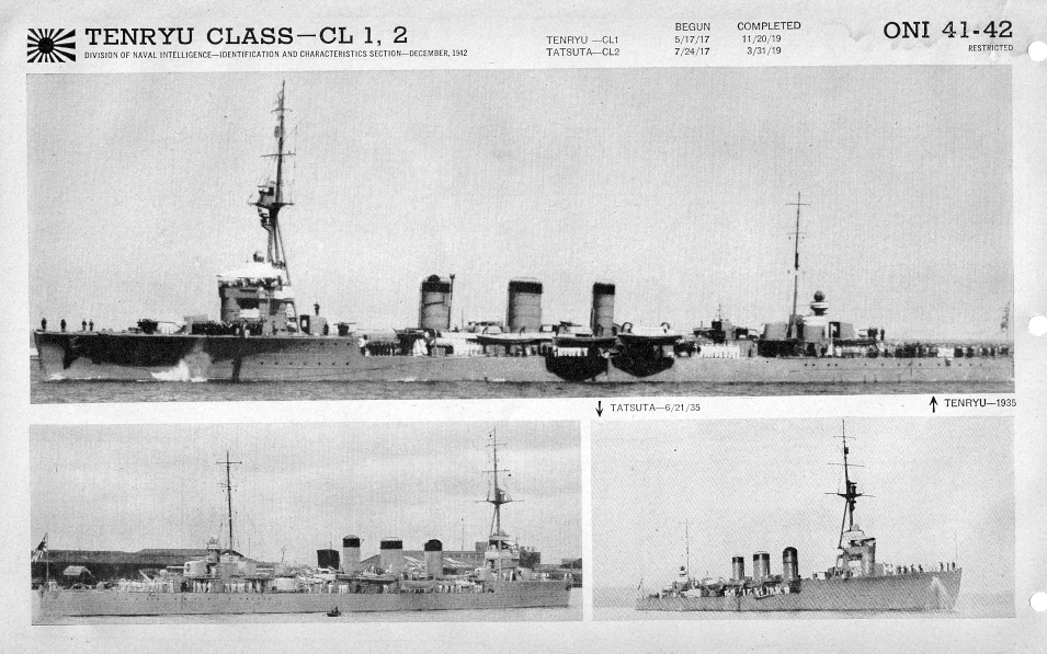 Japanese cruiser Tenryu photos
