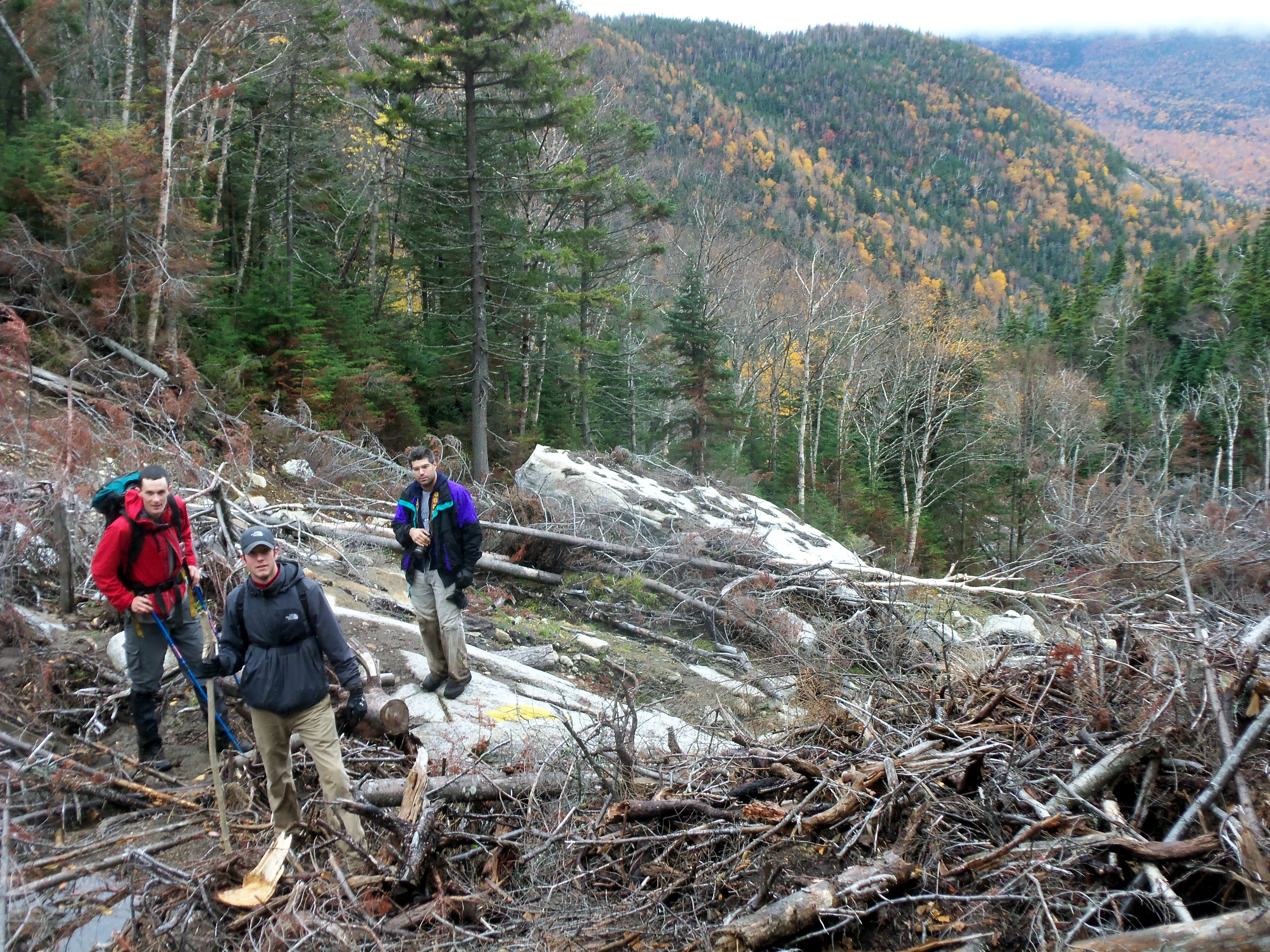Orebed Slide, a year after Irene