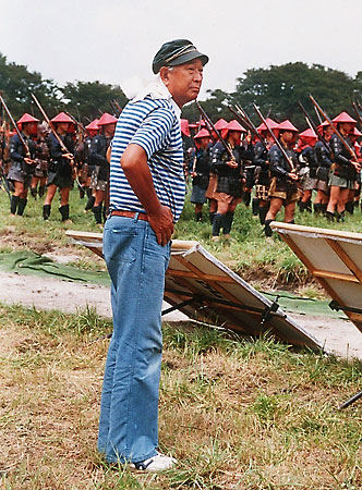 Kurosawa on the set