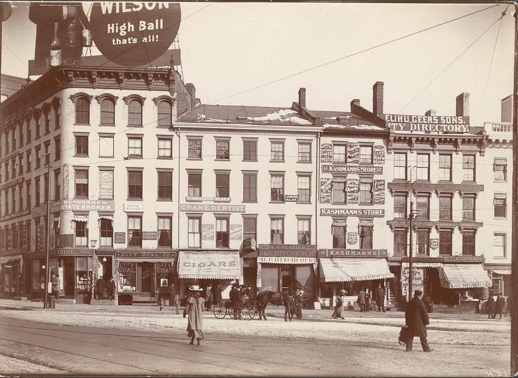 Hartford, CT 1903, Main and State streets