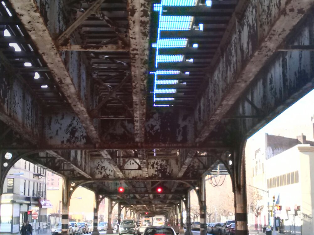 elevated train structure