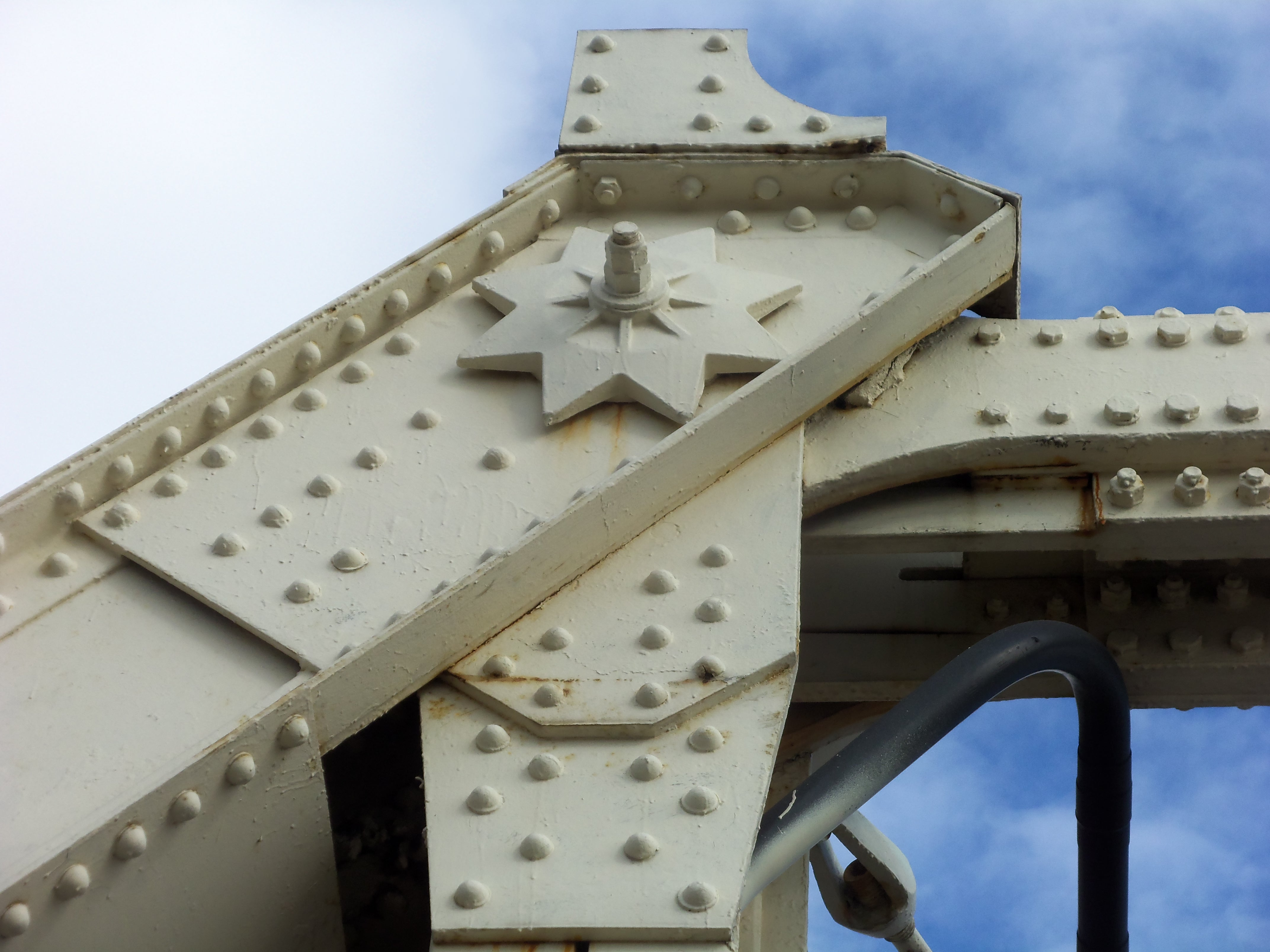 detailed ironwork on bridge