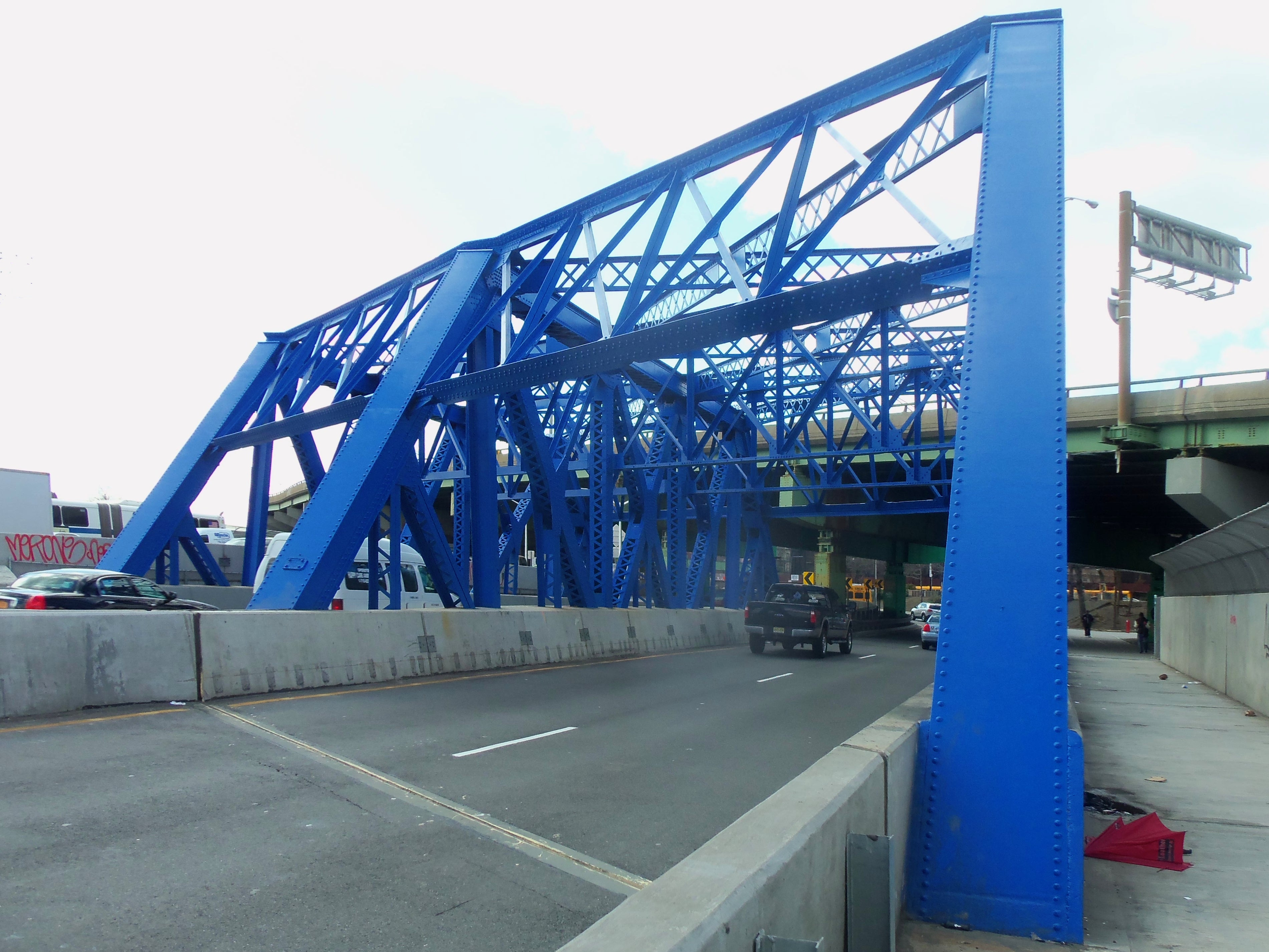 Federal Blue bridge over Bruckner Blvd.