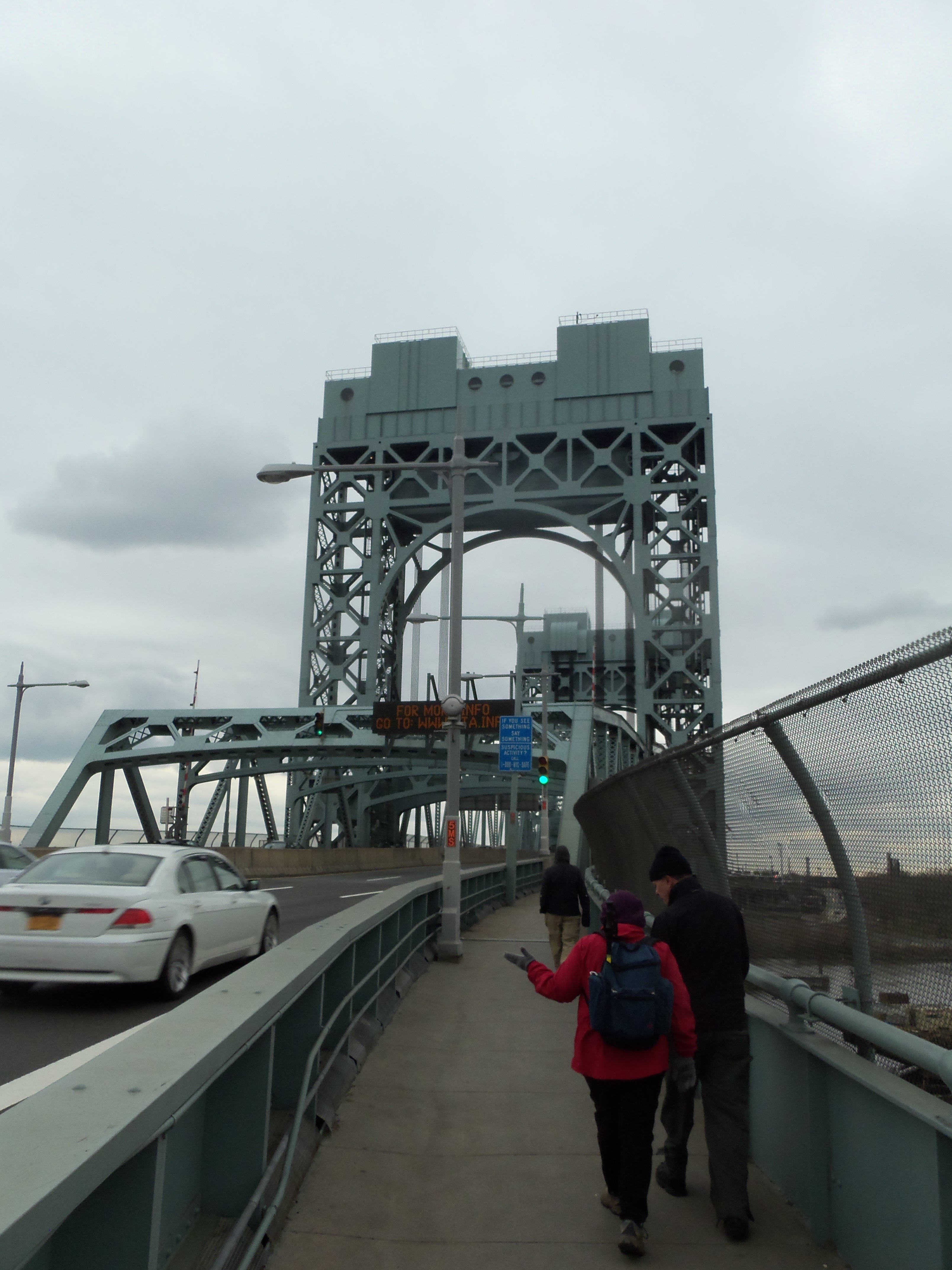 open walkway across Triborough Bridge