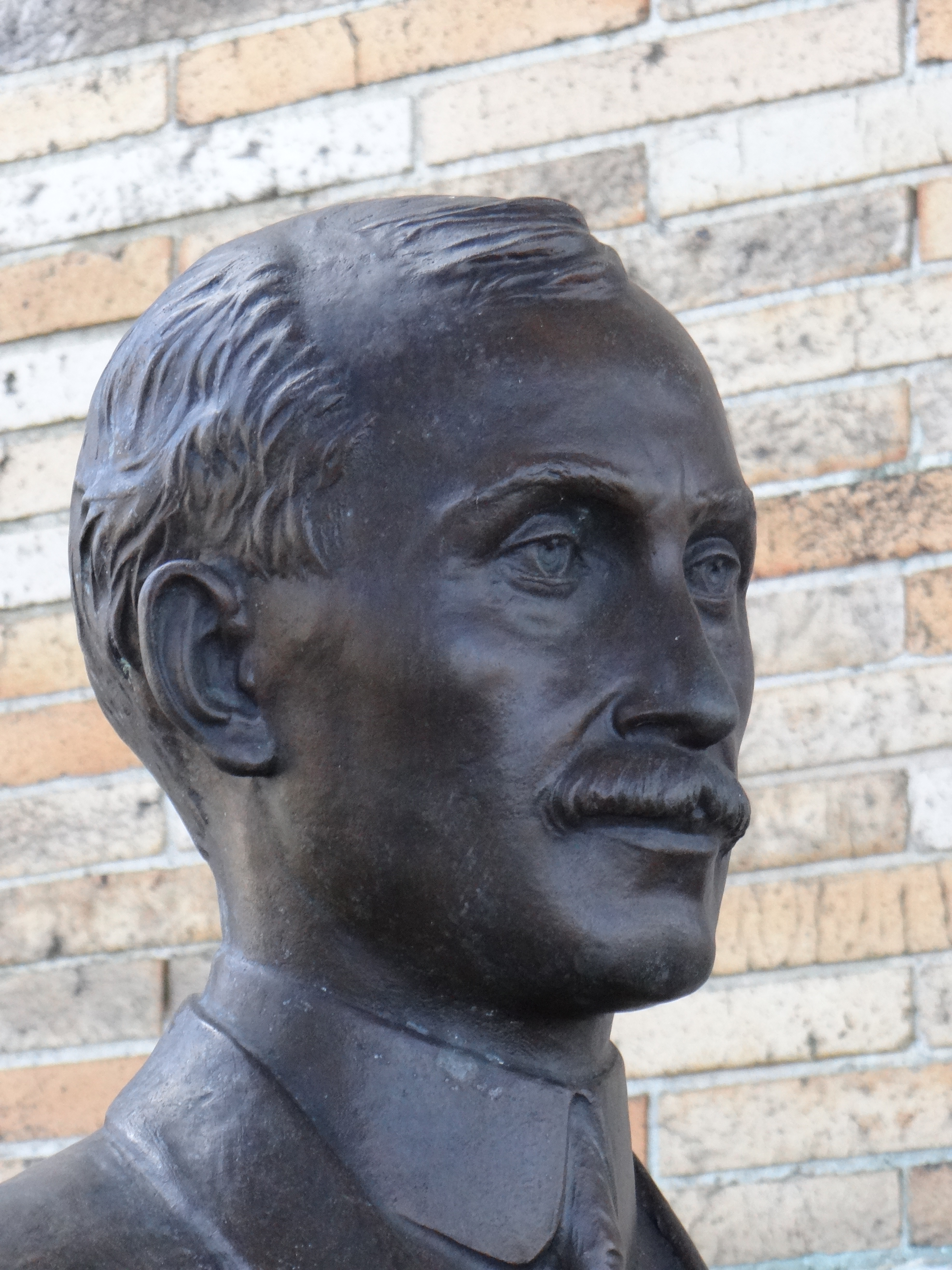 Bronze portrait bust at Hall of Fame