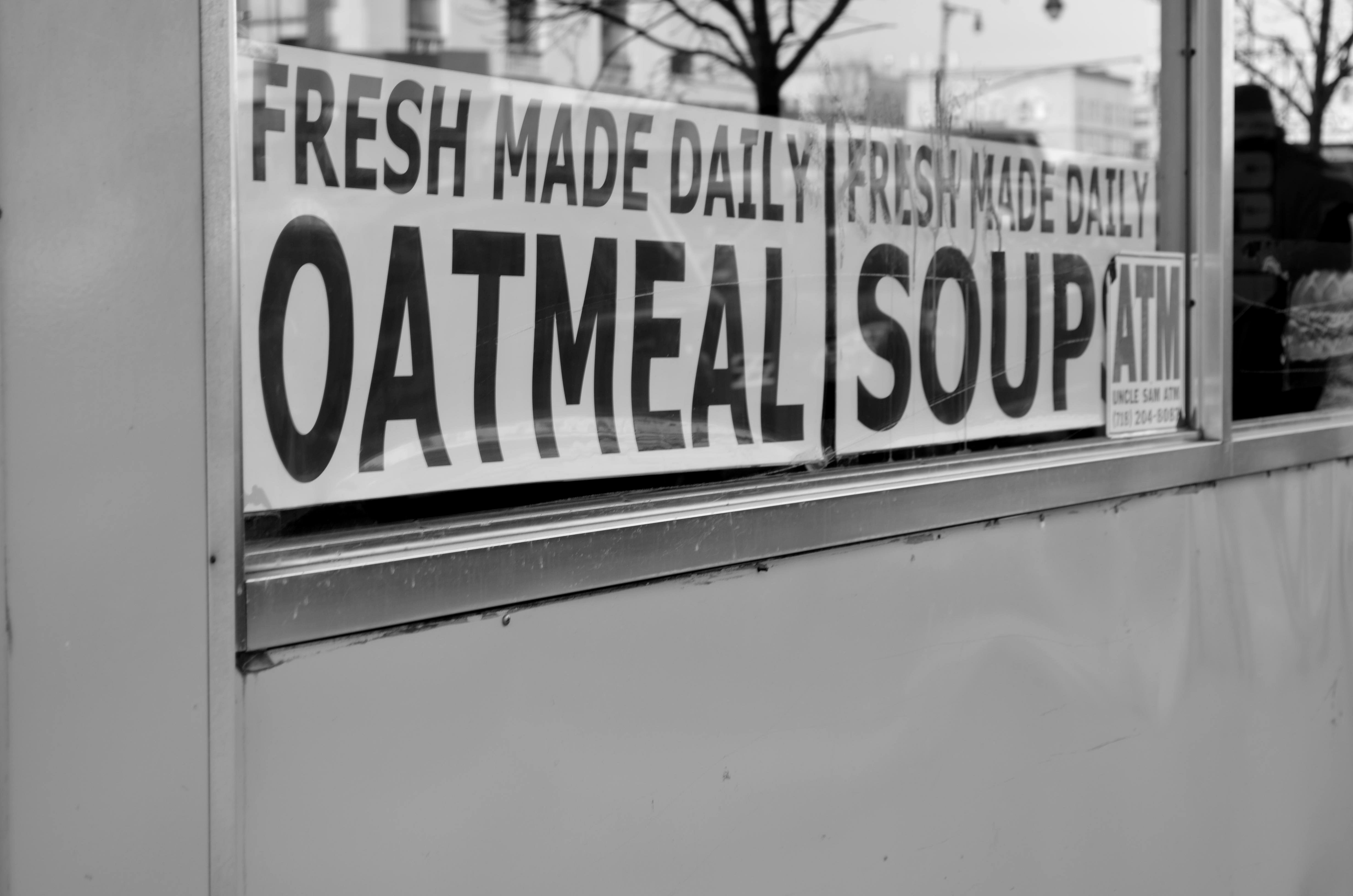 oatmeal soup signs
