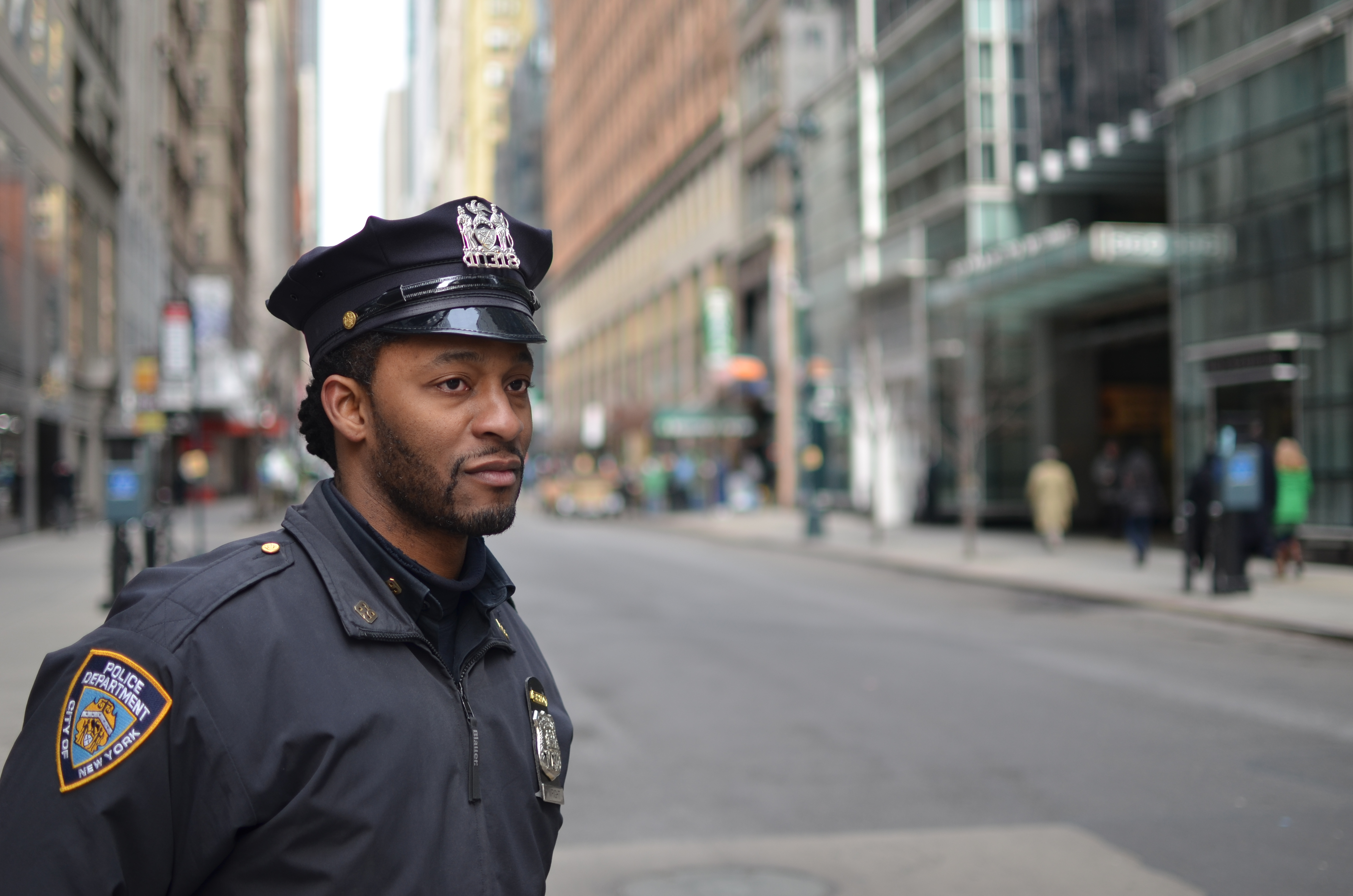 NYPD cop on the street