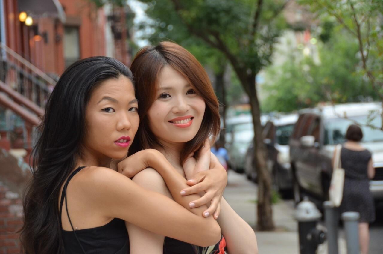 two japanese girls in nyc
