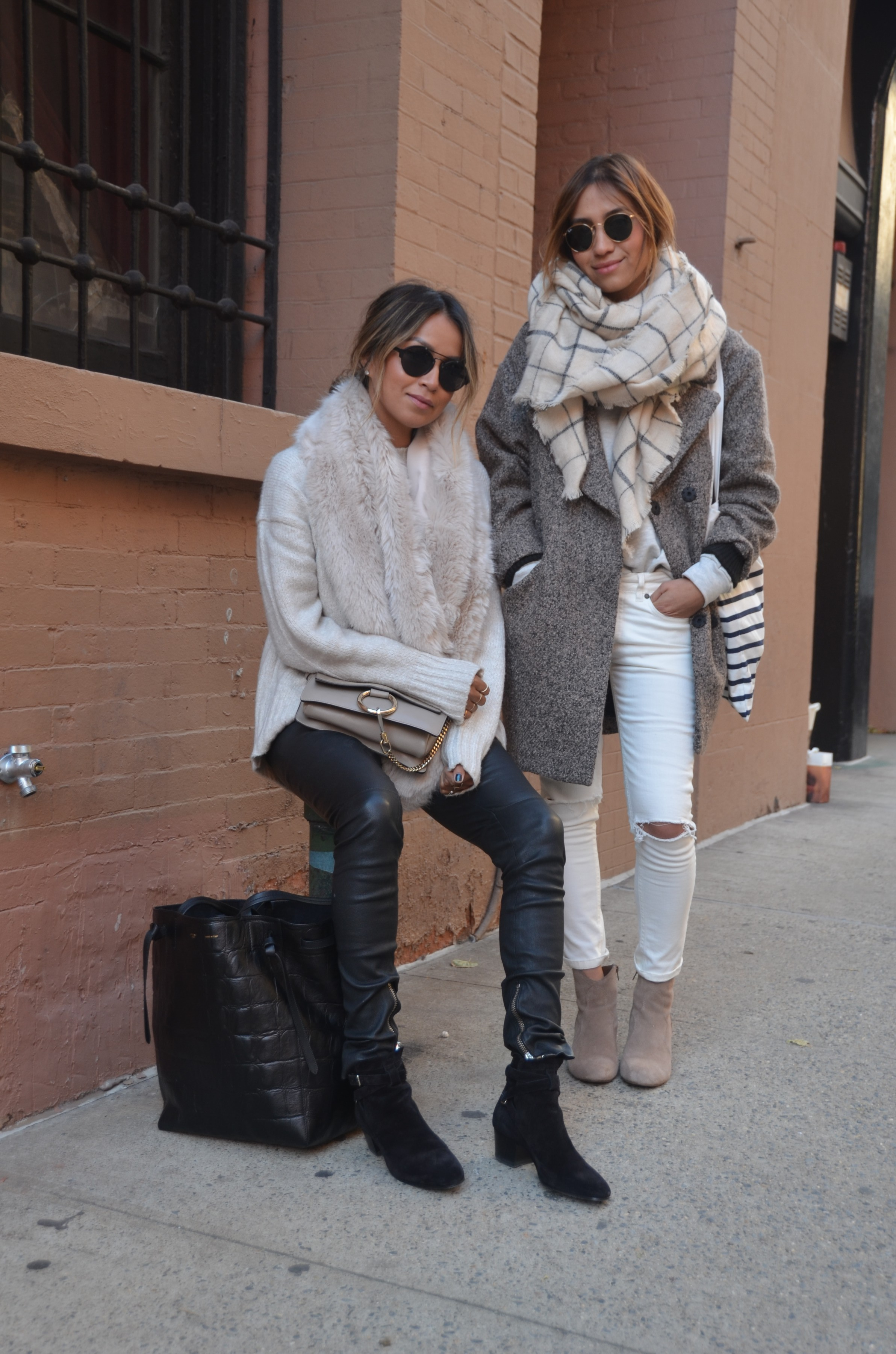 two fashion bloggers