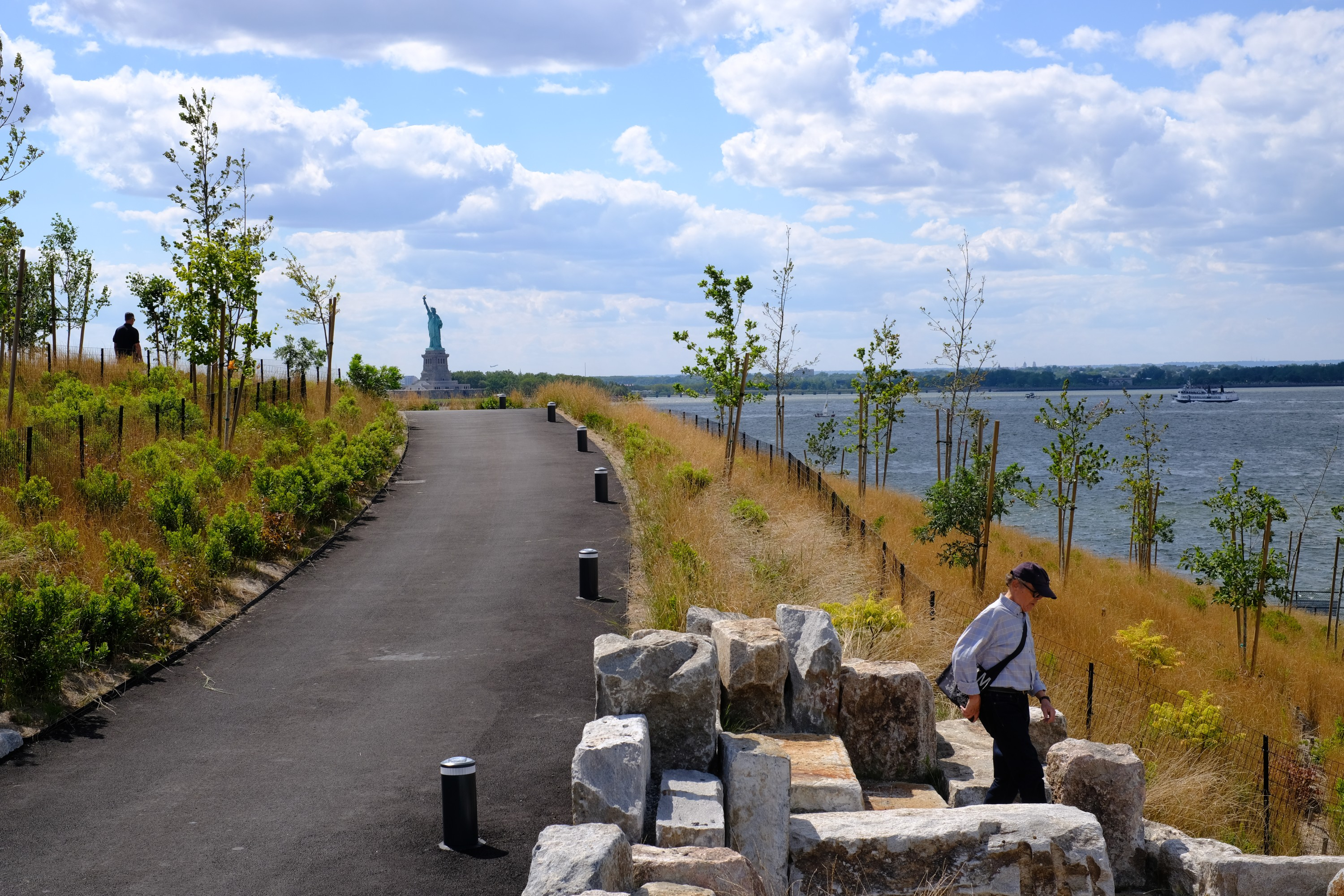 pathway ascending Outlook Hill