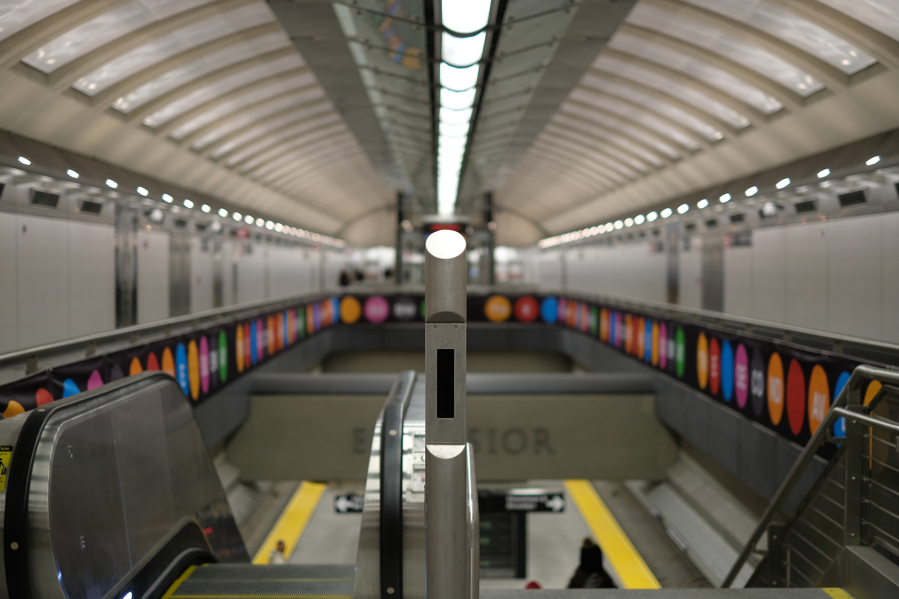 perspective photo of new subway station