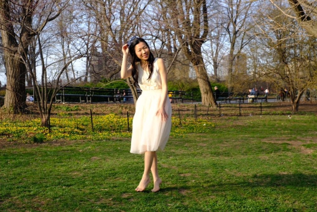 japanese girl photoshoot in central park