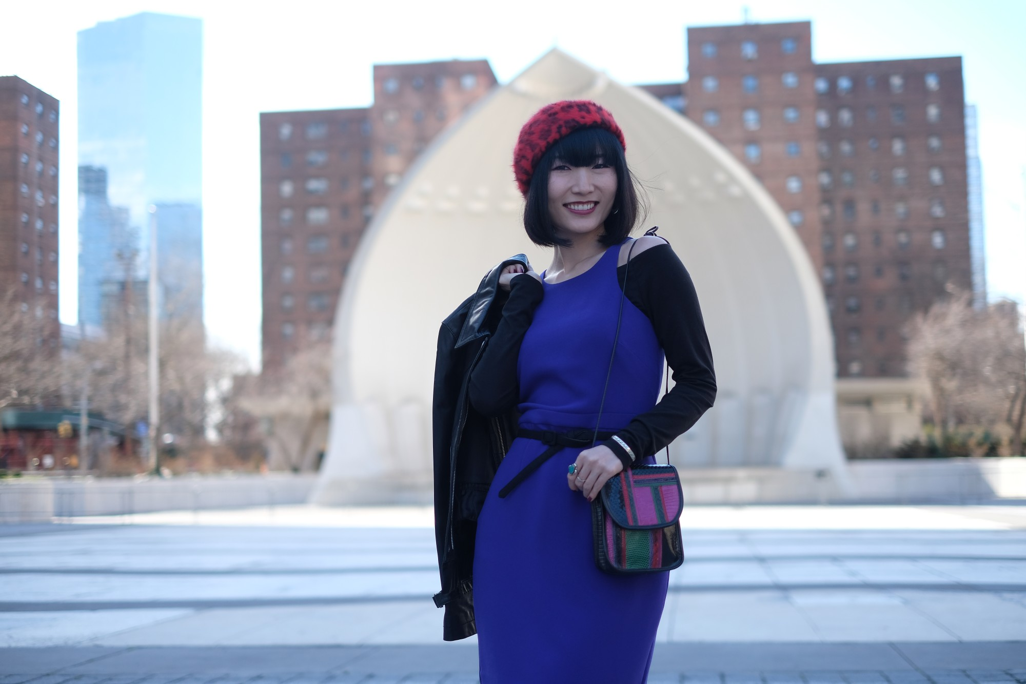 japanese girl at Damrosch Park