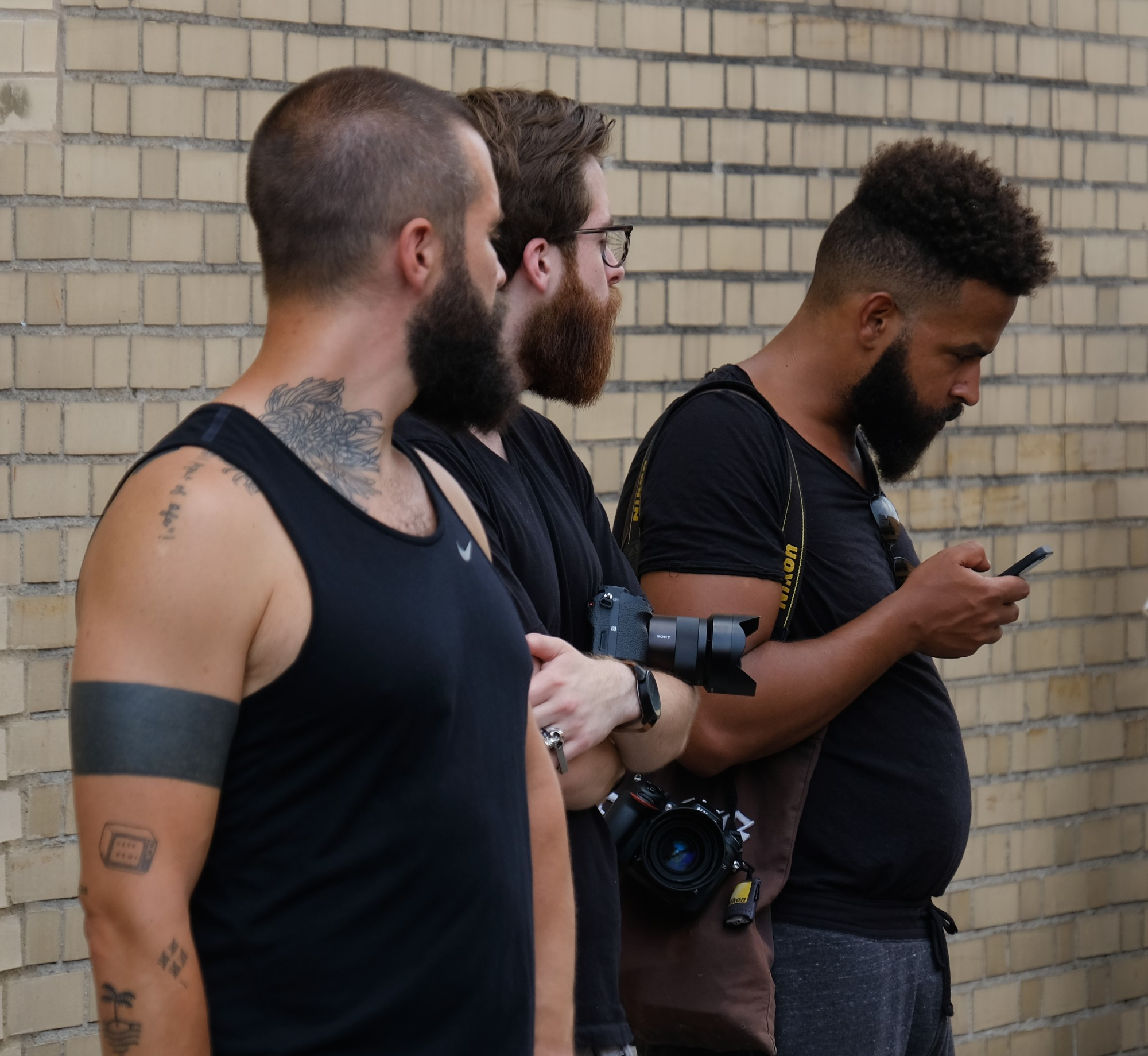 3 bearded street photographers