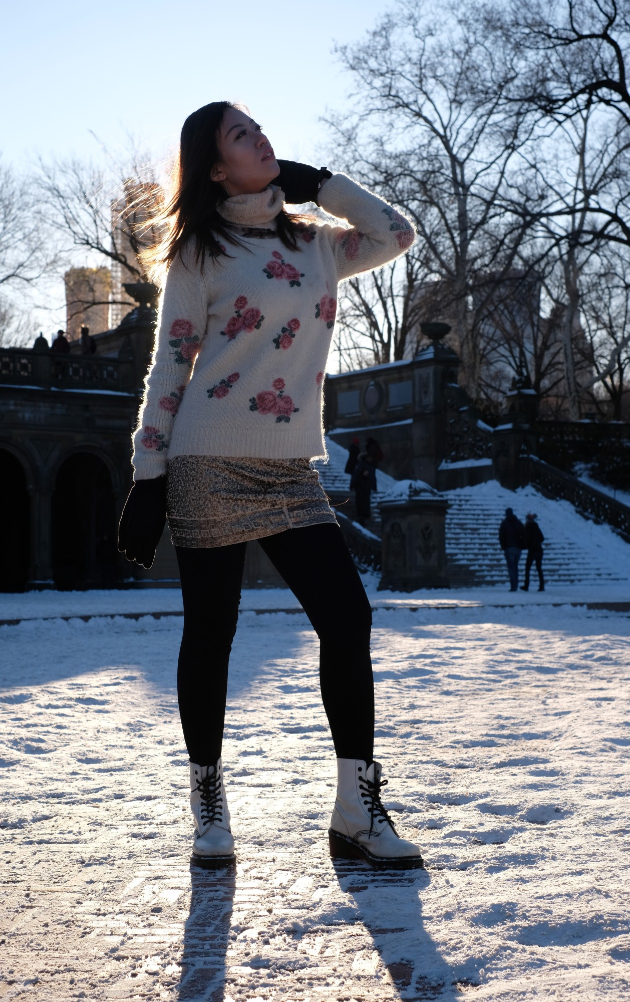chinese girl in central park