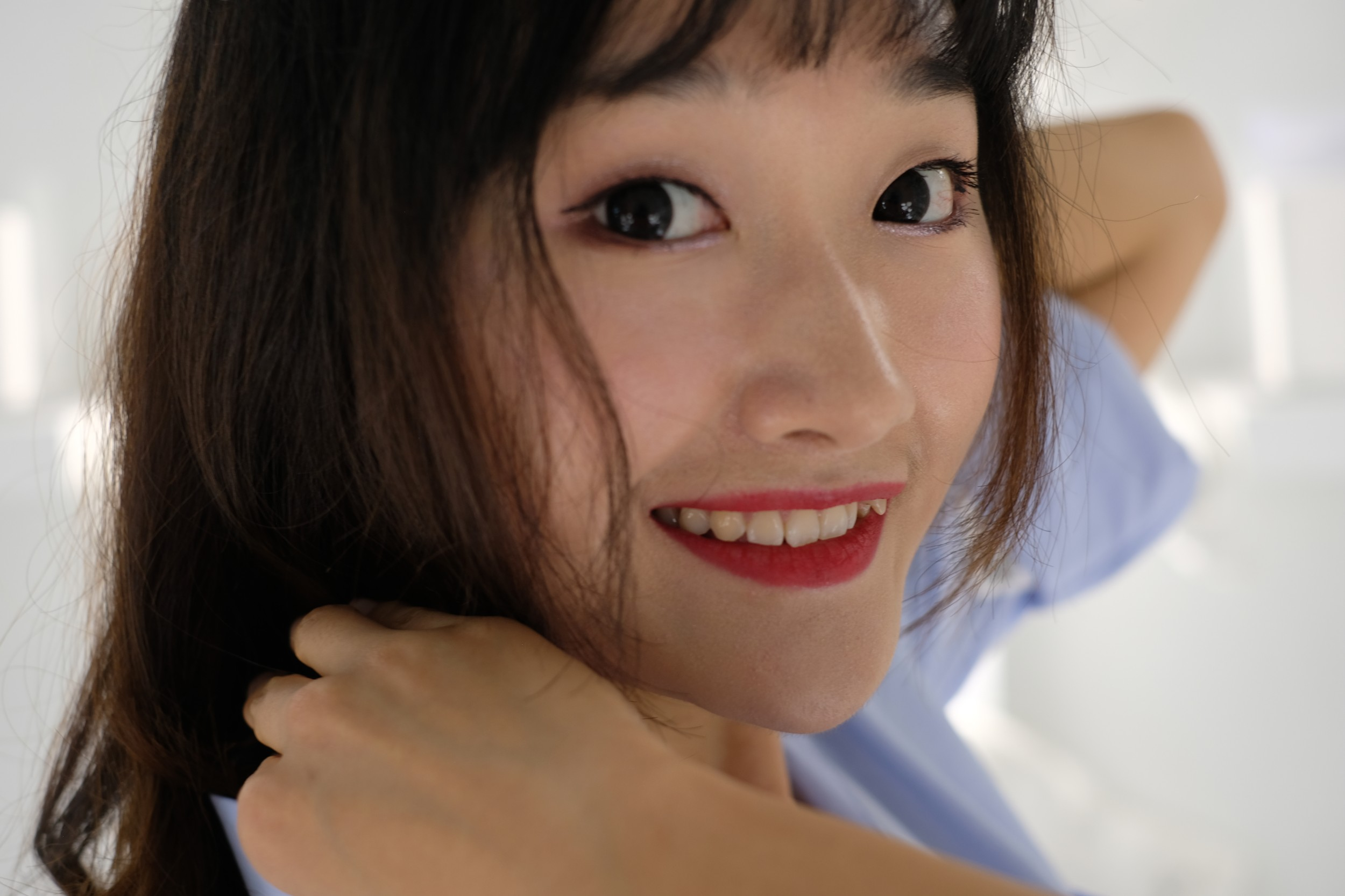 close-up of Chinese girl