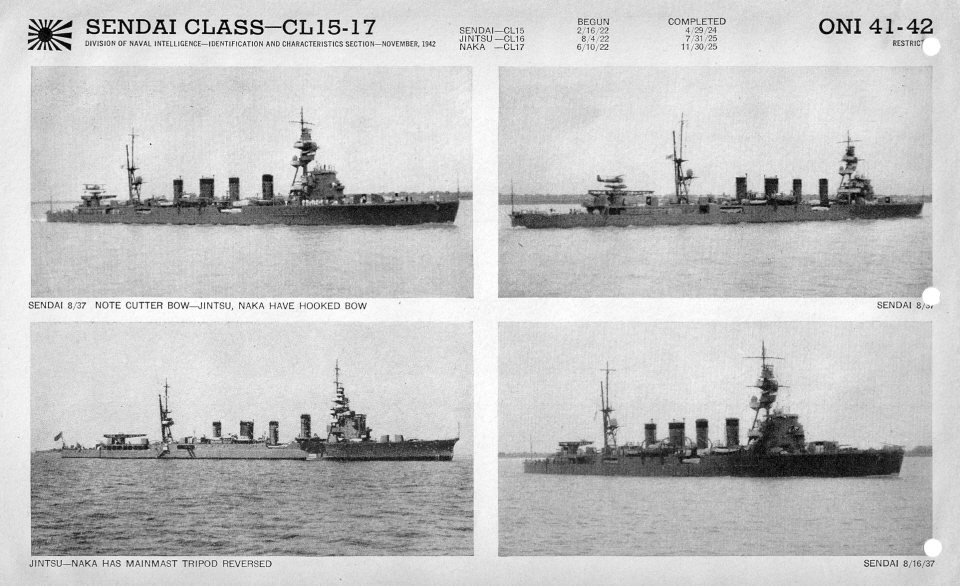 Japanese cruiser Sendai photos
