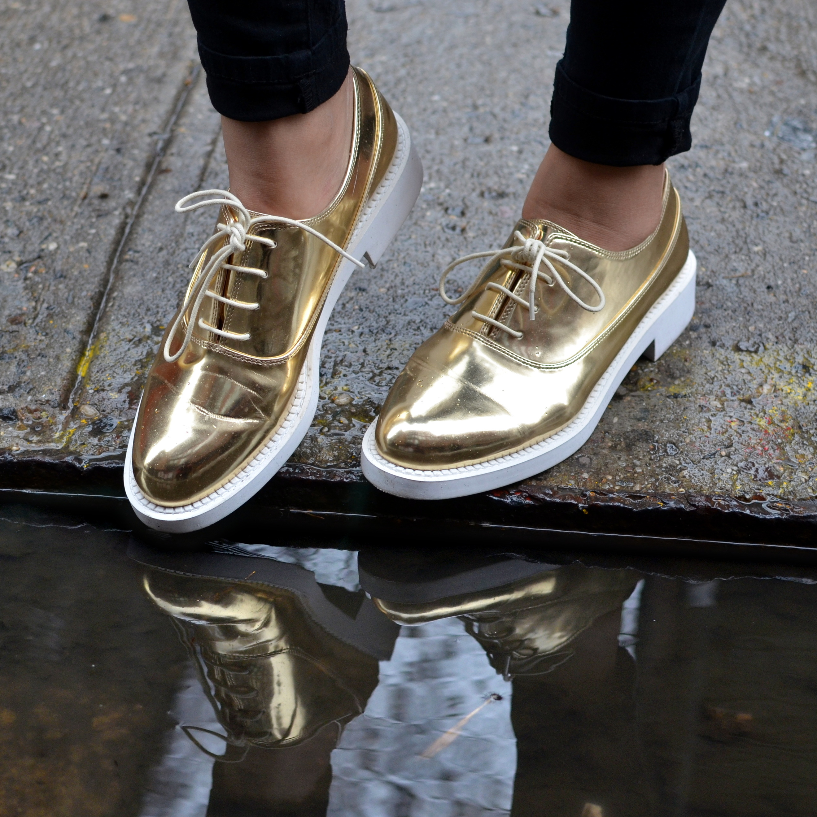 Gold Oxfords