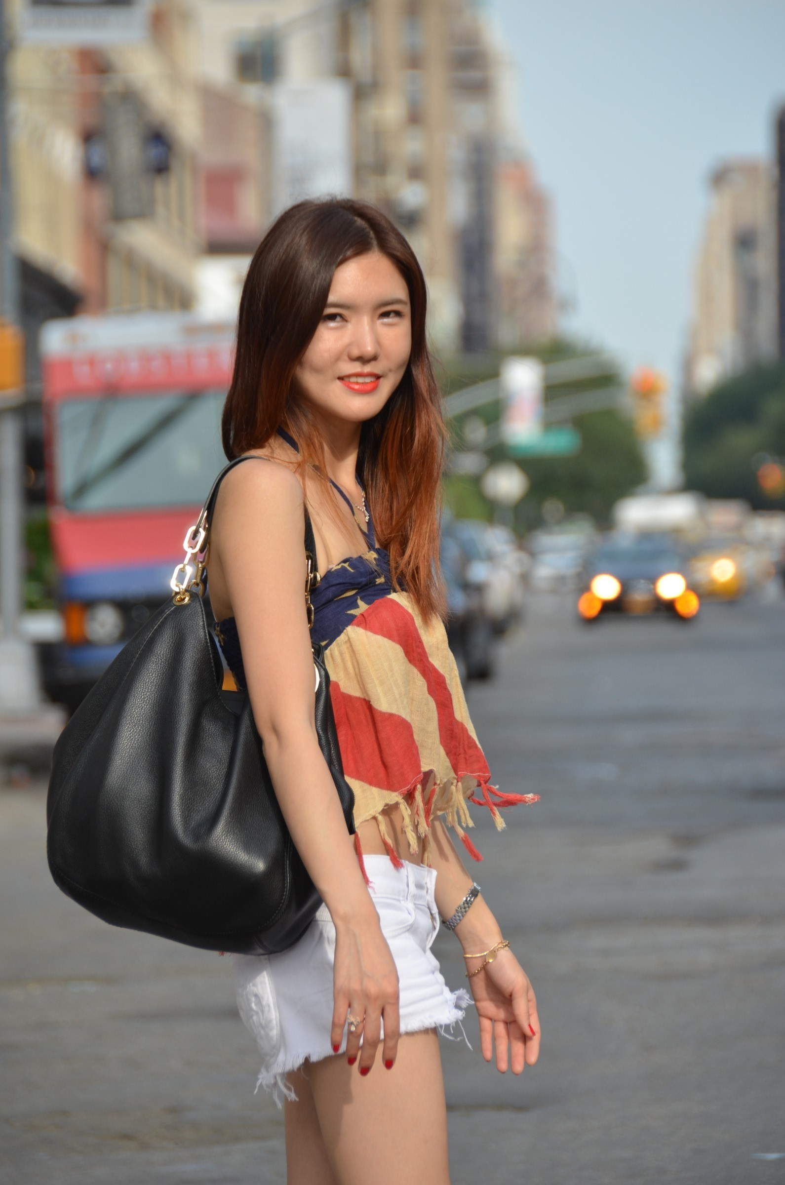 korean girl on NYC street