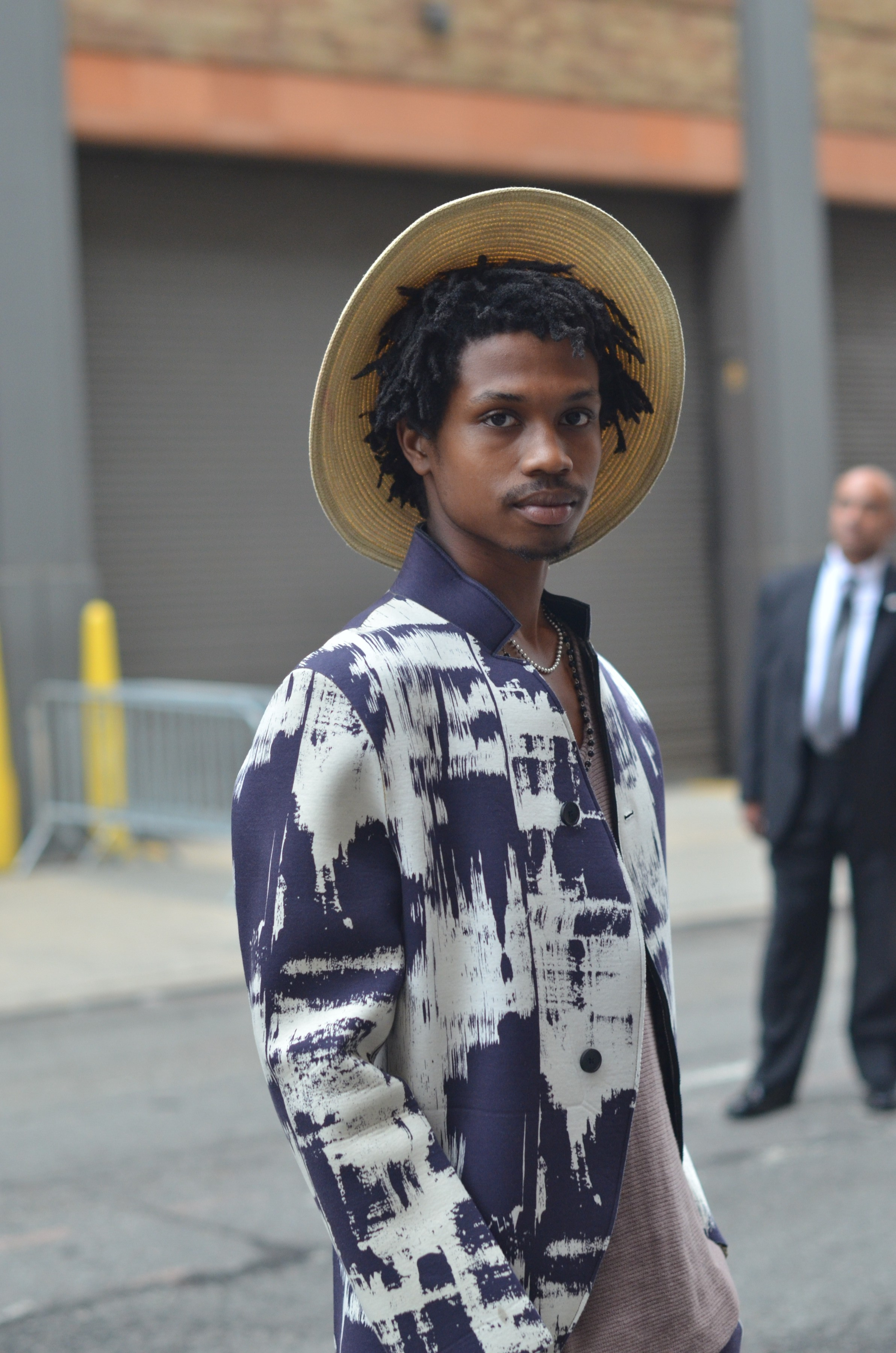 Afrian-American male model at NYFW