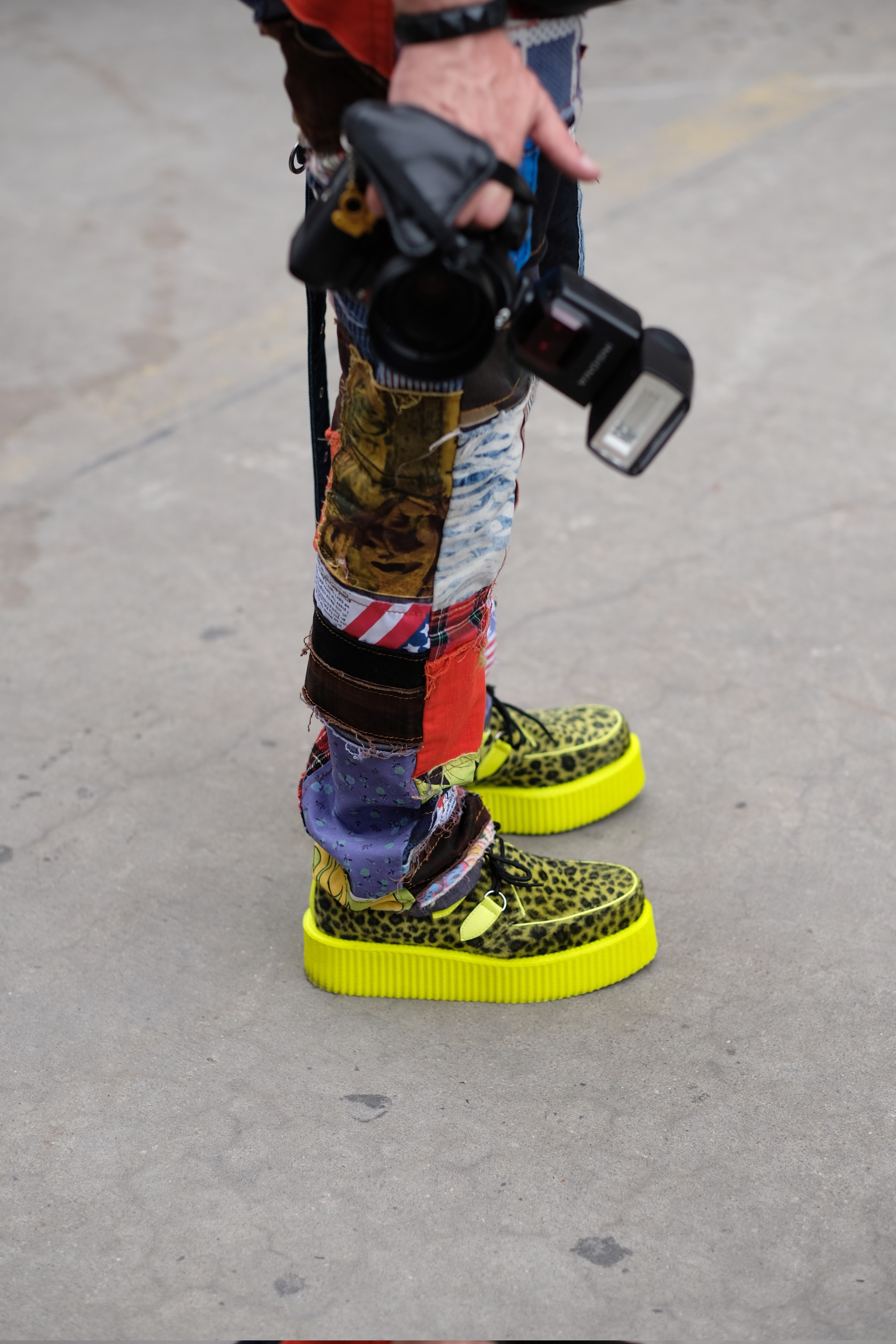 shoes of the photographer