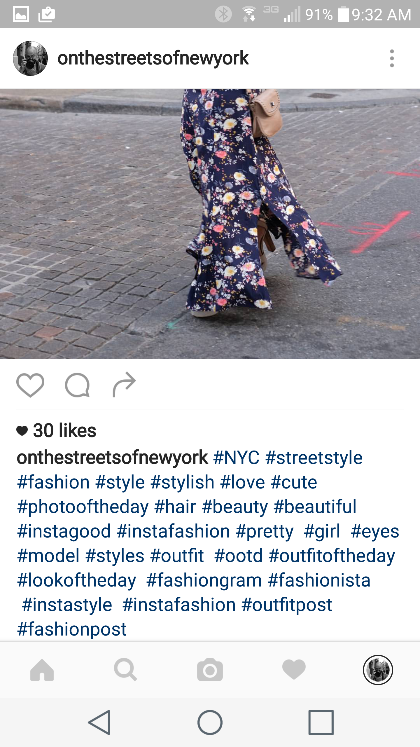 screenshot of an Instagram post with hashtags