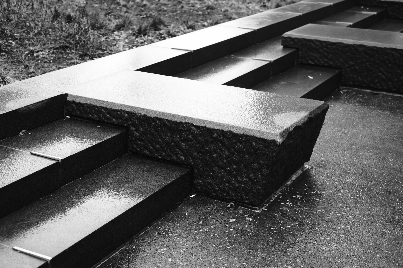 Cooper Square Seats in the Rain
