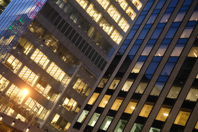 Lights in Sixth Avenue Skyscrapers