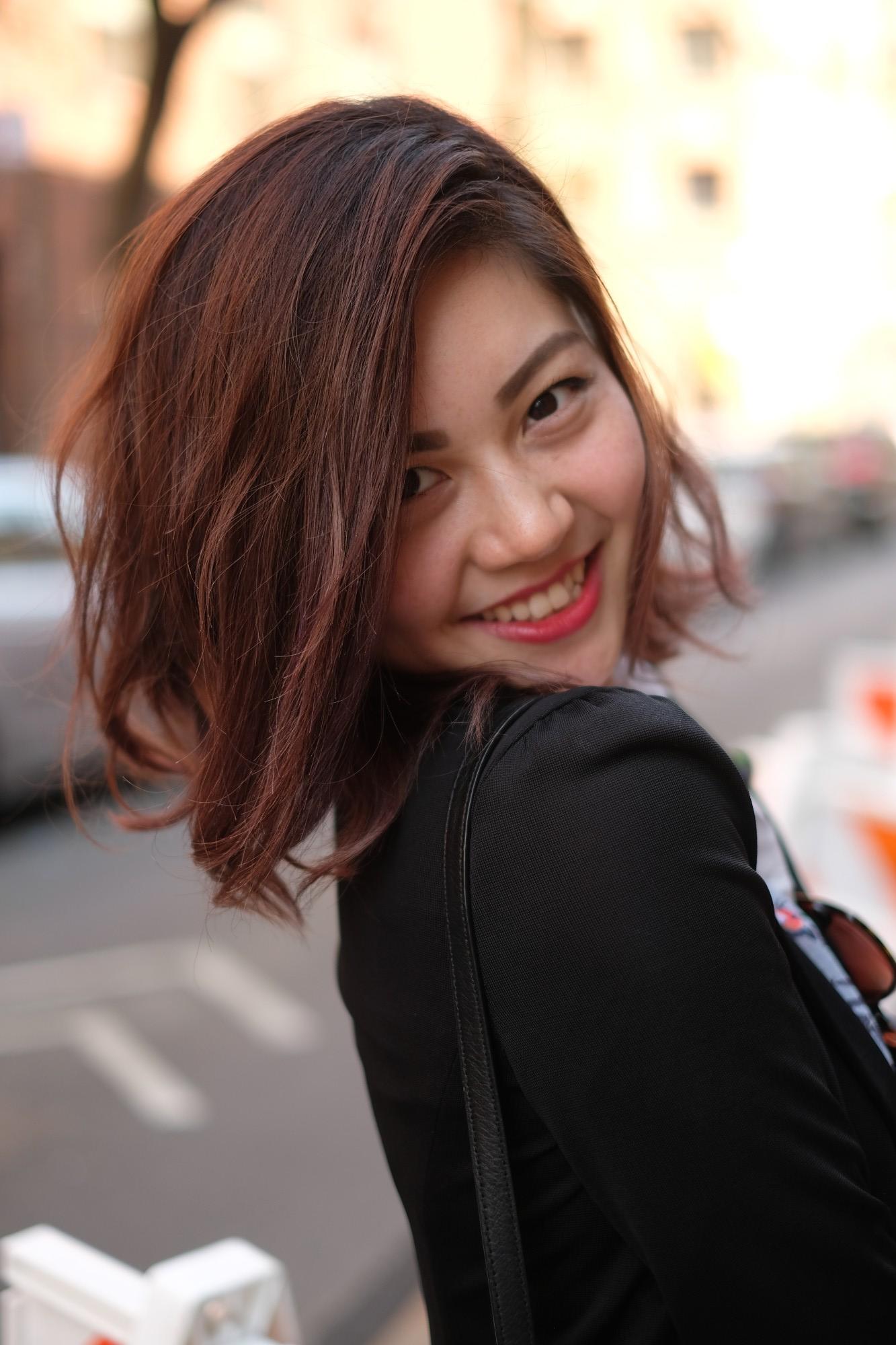 smiling Japanese model