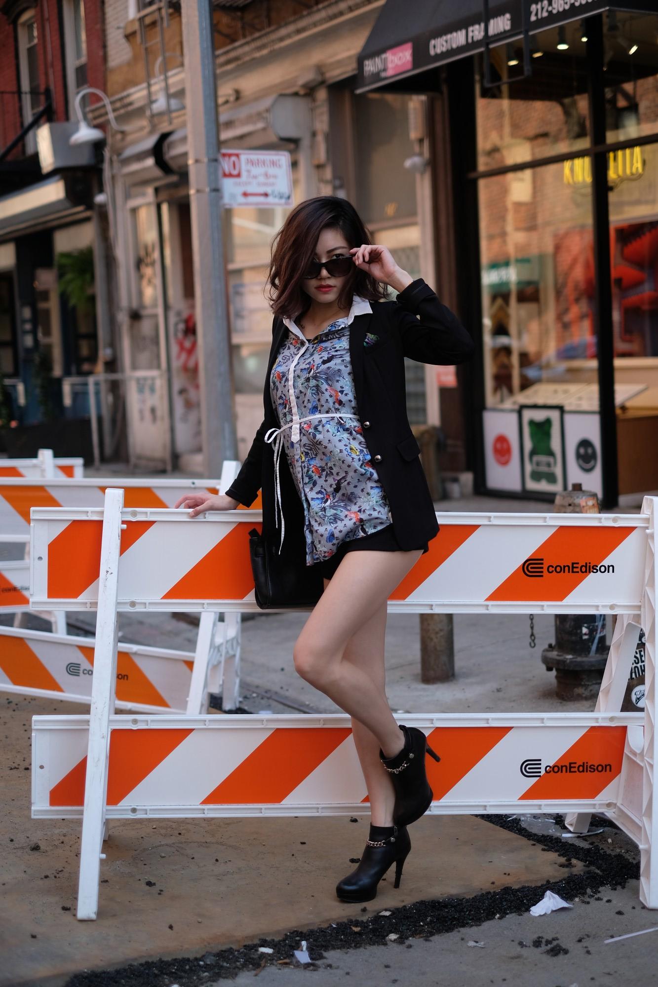 asian model on the street